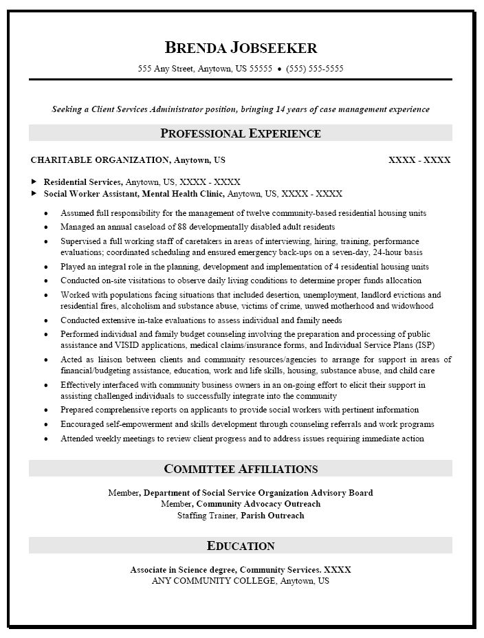 resume sample for social worker caseworker warehouse and template