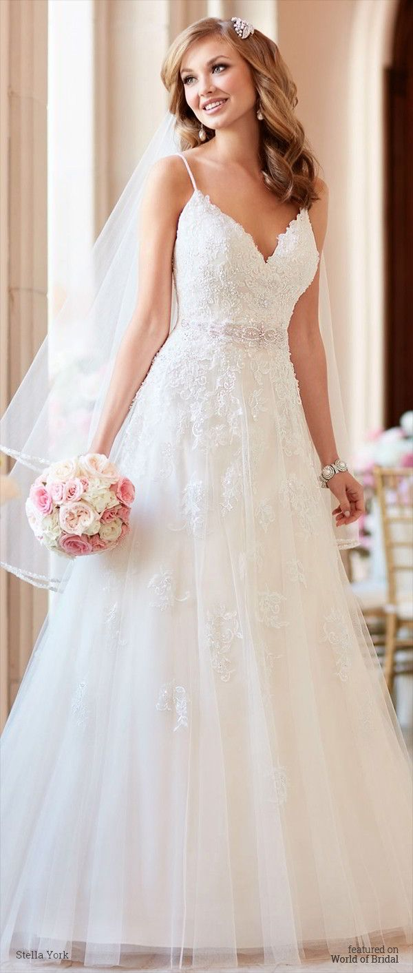Best 25 wedding dresses with straps ideas on pinterest simple stella york fall 2016 wedding dresses junglespirit Gallery