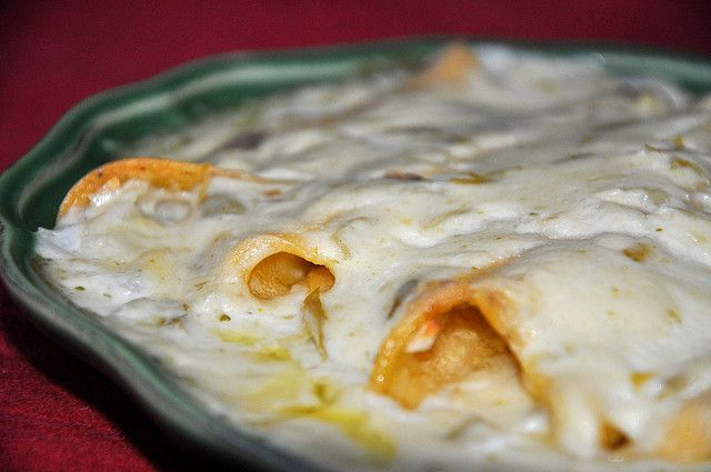 Sour Cream Enchiladas | Guilty Mexican / Tex-Mex | Pinterest