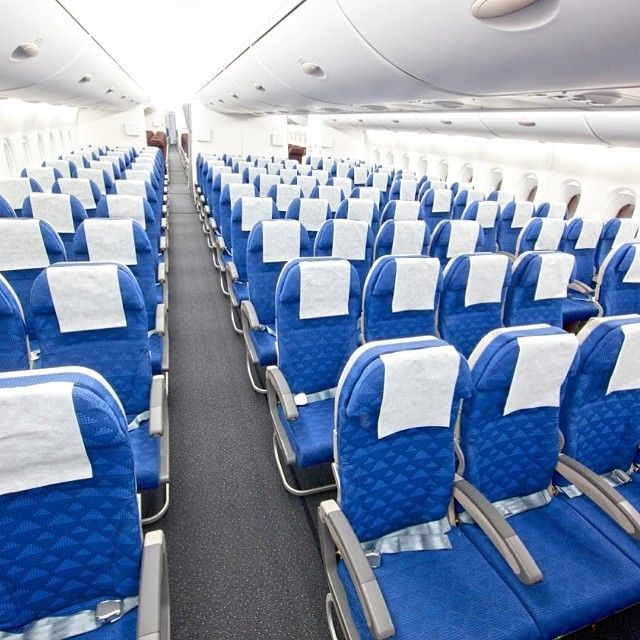 This Is The Interior Of Our A380 Economy Class. #koreanair
