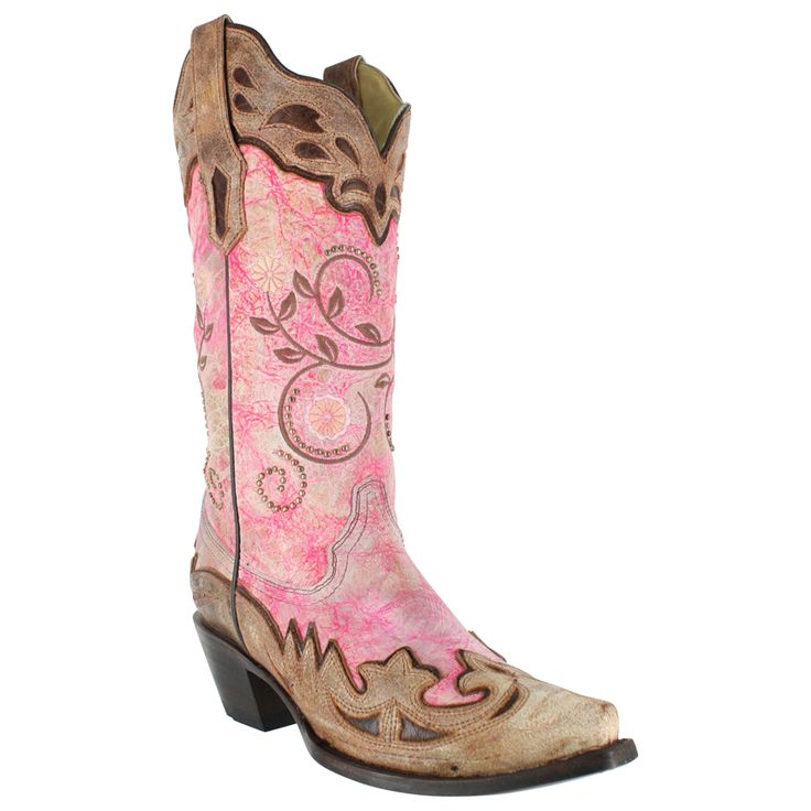 Corral Women's Florescent and Wing Tip Snip Toe Western Boots