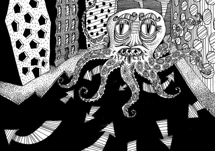 https://flic.kr/s/aHskMqQqJB | Enigma | Desenhos à nanquim com cenários enigmáticos.