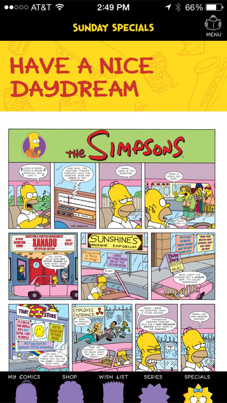 Simpsons Store iosBooksappapps App, Sunday special
