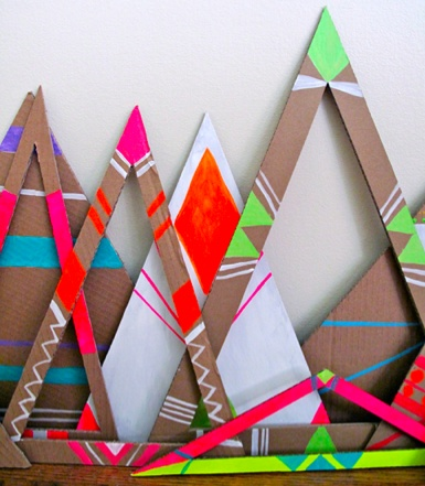 ♥ triangles (tepees?)