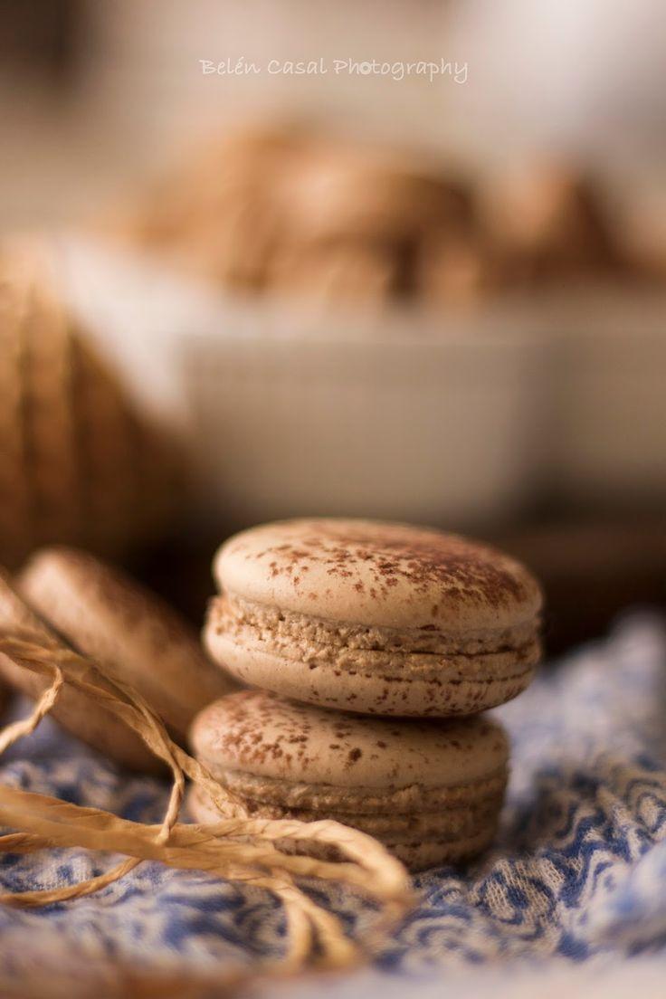 Macarons de té chai y chocolate