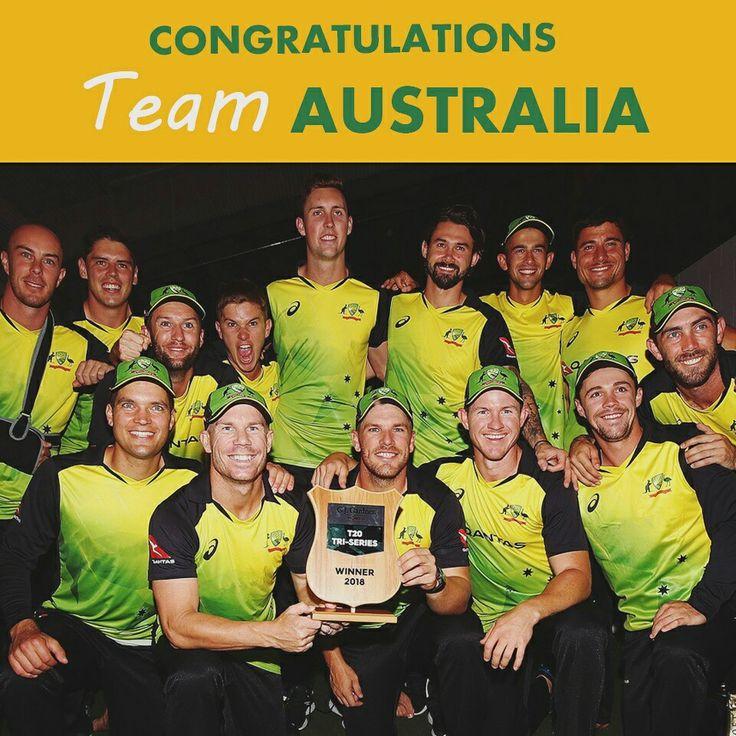 CONGRATULATIONS TEAM AUSTRALIA   Trans-Tasman Tri-Series 2017-18   #AUSvNZ #GOAUSSIES #TeamAustralia #TeamNewZealand #final #TriSeries #T20 #cricket #NZvAUS #T20I #Aussiepower