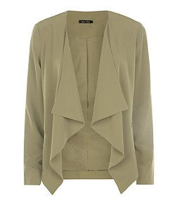 Khaki Soft Waterfall Blazer | New Look