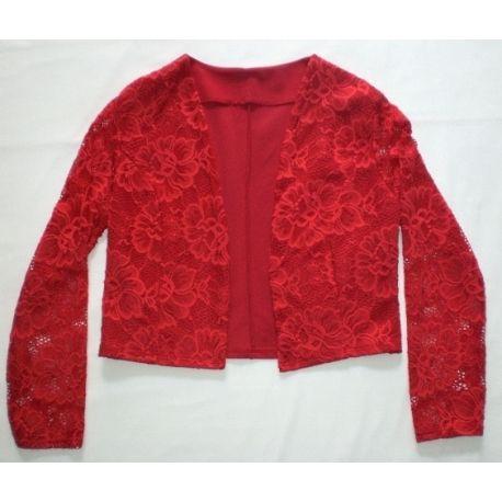 Red lace bolero