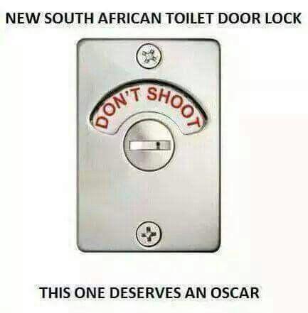 Haha het lekker gelag vir hierdie enetjie... #jokes #funny #laugh #lag #snaaks #South_Africa #Oscar #lol #dontshoot #shoot #toilet #lock #exclusivelock #jokeoftheday #hilarious #humour #humor #grappe #