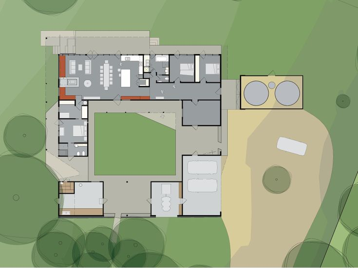 courtyard style house plans australia kerala design l shaped