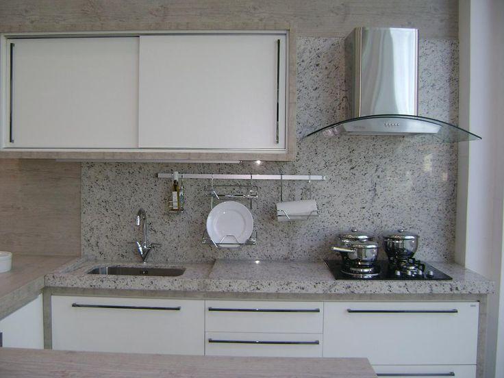 Bancadas para cozinha : Bancada para Cozinha em Granito Branco Marfim