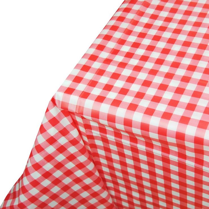 Red Gingham Plastic Table Cover : The Party Cupboard Australia- $8