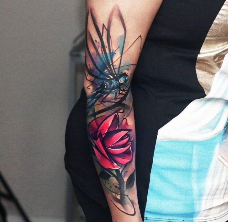 Tatuagem aquarela: fotos e onde fazer | Tatuagens para braço de mulher, Tatuagens aquarela, Mulheres tatuadas