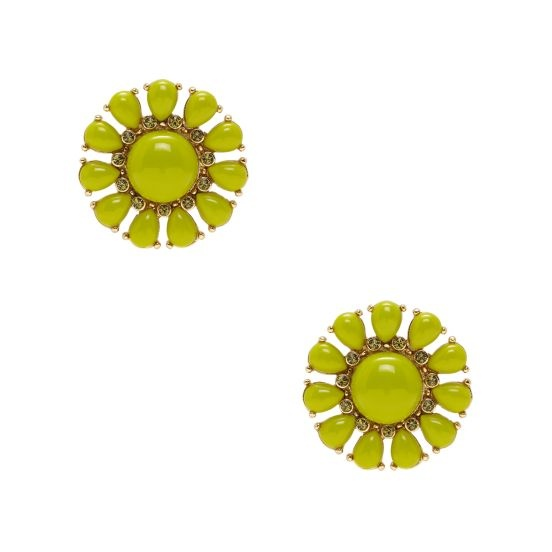 kate spade glossy garden earrings.... if only i liked clip ons