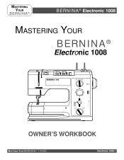 Bernina 1008 Owners Manual (free pdf download)