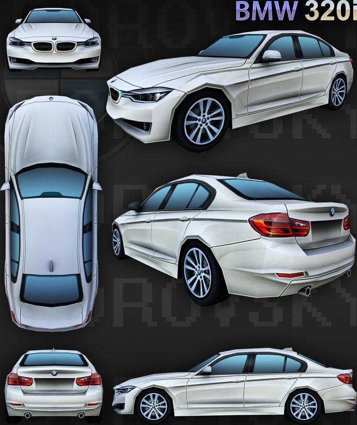 ArtStation - BMW_320i, Alexey Borovsky