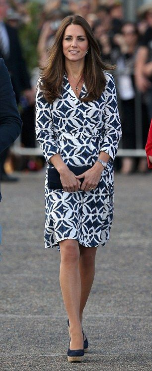 The secret behind Kate's practical yet chic style is her midi hemlines