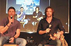 As the stars of a tv show, they keep each other from being too serious.   Jensen Ackles And Jared Padalecki's Epic Bromance