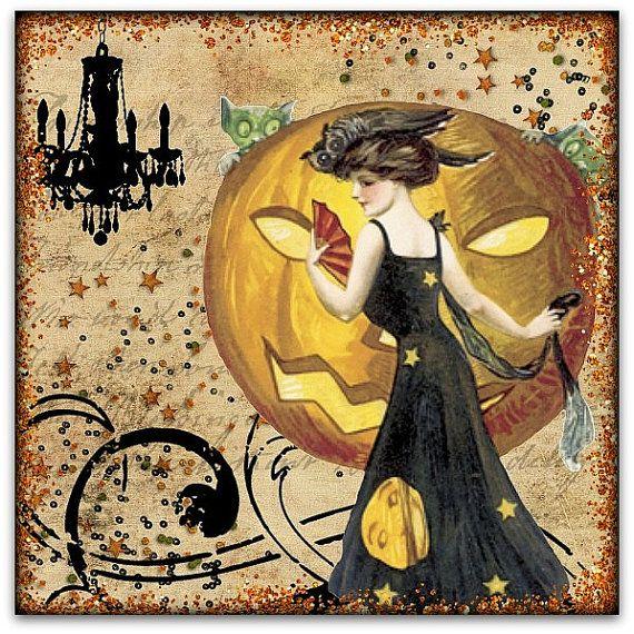Vintage Halloween.: Holiday, Printable, Boo, Illustration, Halloween Vintage, Vintage Halloween Cards, Halloween Art, Halloween Ideas, Vintage Cards