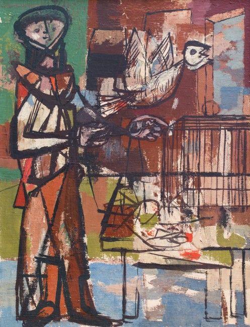 Jankel Adler - Bird and Cage