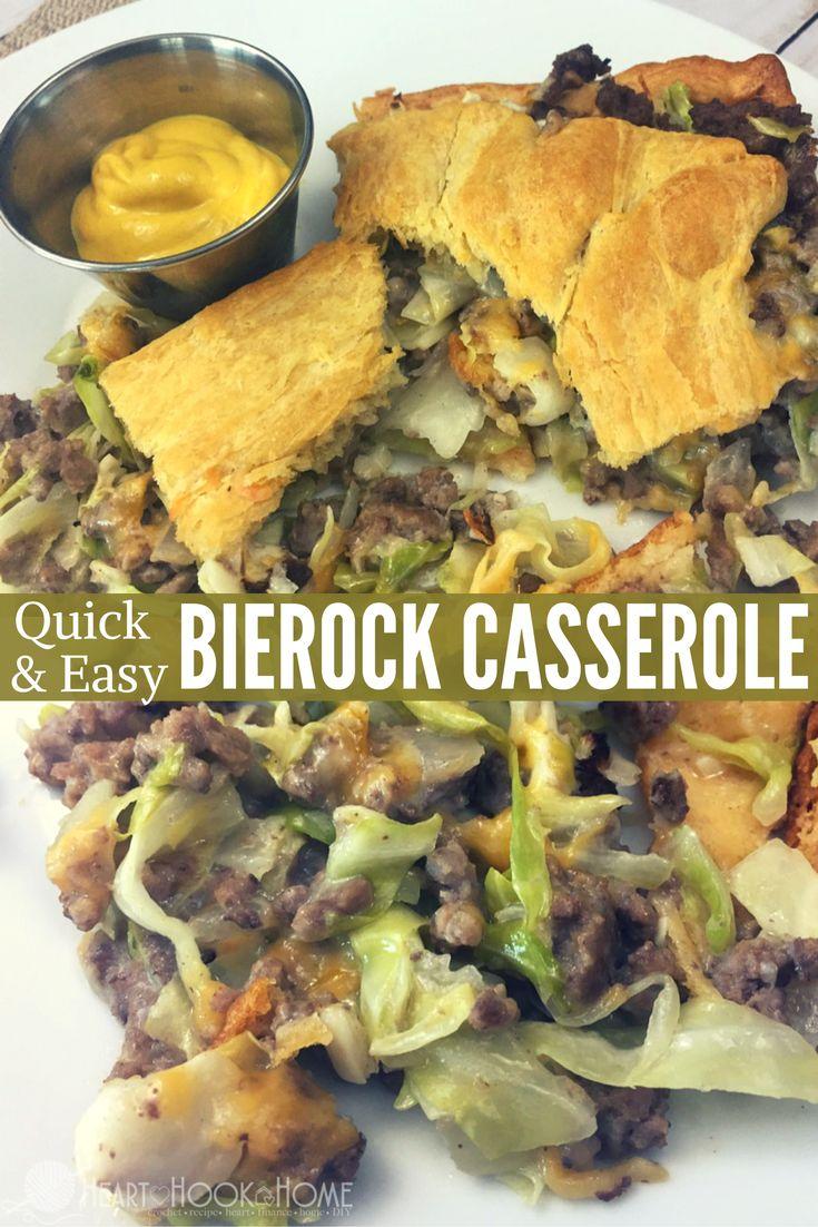 Quick & Easy Bierock Casserole http://hearthookhome.com/bierock-casserole/?utm_campaign=coschedule&utm_source=pinterest&utm_medium=Ashlea%20K%20-%20Heart%2C%20Hook%2C%20Home&utm_content=Quick%20and%20Easy%20Bierock%20Casserole