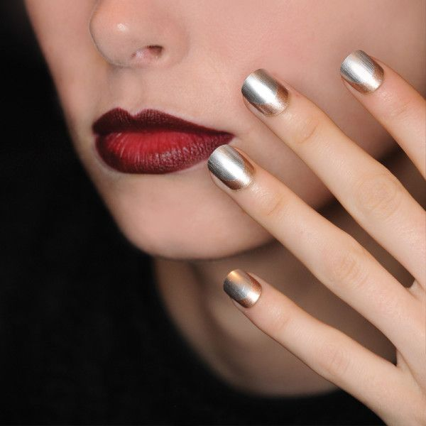 Metallic nails are the trend for spring! We love AILA #LIKEABOSS