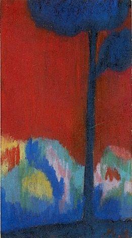 L'Arbre bleu by Mikhail Larionov