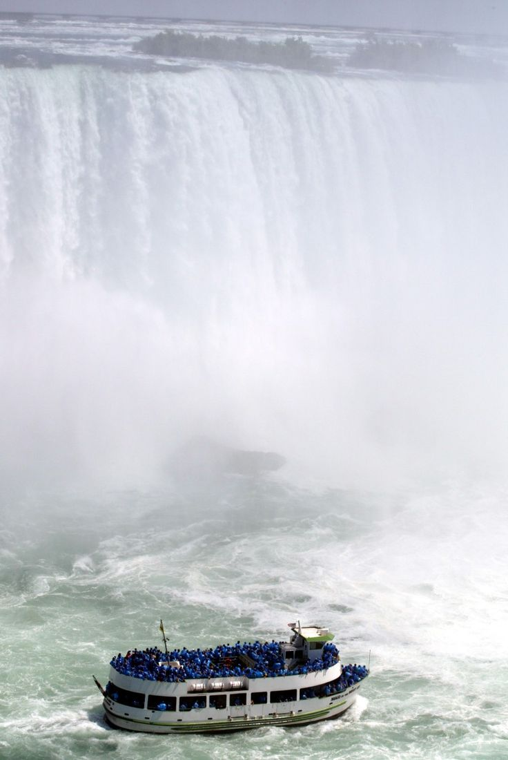 Niagara Falls - Maid of the Mist boat tour  - - (you cannot go to see the falls with out doing this !! )