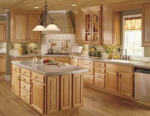 Modern Country Kitchen. Darker counter...