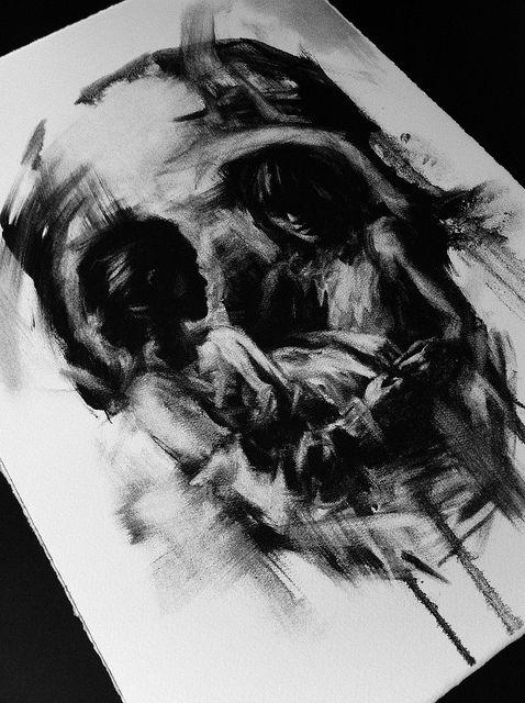 Charcoal Drawings Of Skulls Show Incredible Artistic