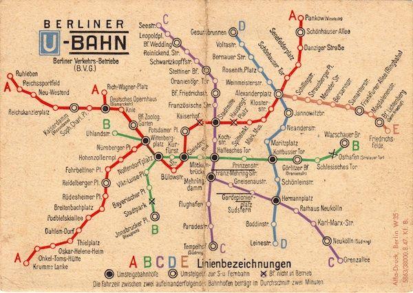 Berlin U-Bahn Map from 1948 on http://www.drlima.net
