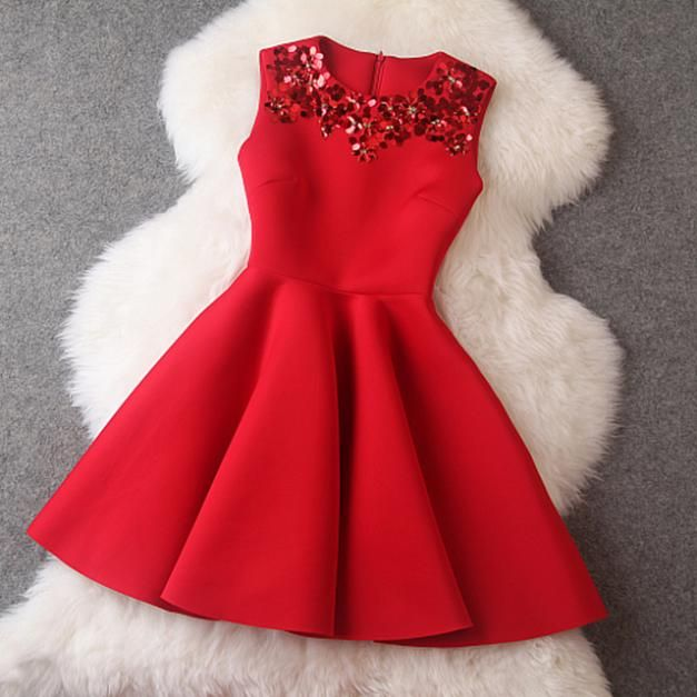 Find More Dresses Information about 2014 Winter New Autumn Dresses Red Sleeveless Sequined Mini Dresses Black Princess Office Casual Women Dress plus size,High Quality dress for success women,China dresses selling Suppliers, Cheap dress heaven from lady boutique paradise  on Aliexpress.com