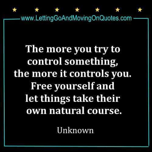 letting go of control quotes