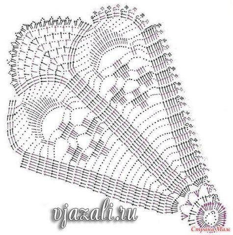 Схемы салфеток крючком-2. / Вязание крючком / Вязание крючком. Ваши работы