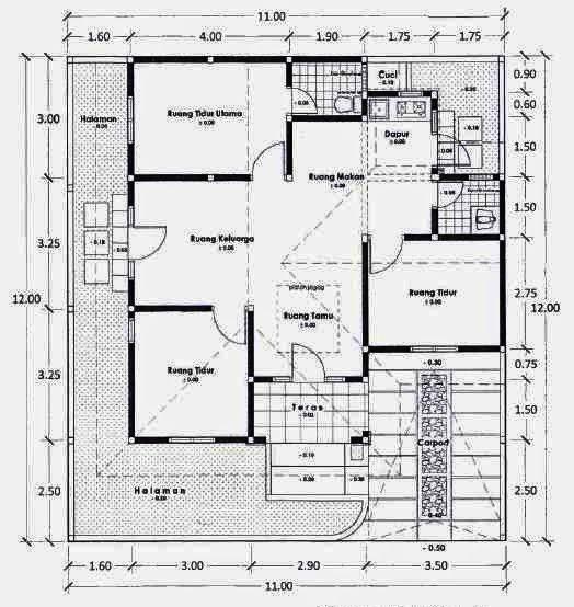 102 best denah rumah images on pinterest floor plans house denah rumah 4 kamar tidur malvernweather Gallery