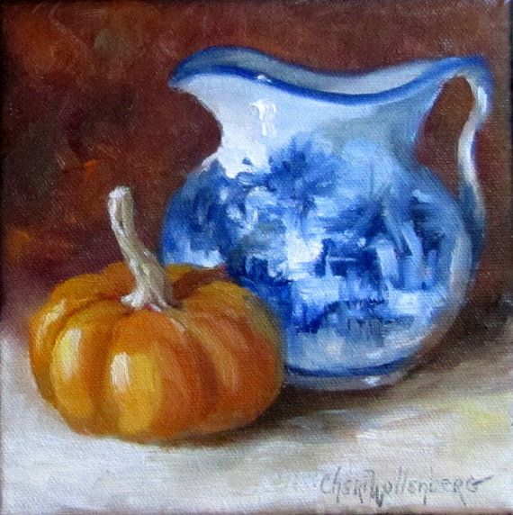 Small 6x6 Original Oil Painting Still Life by ChatterBoxArt, $38.00