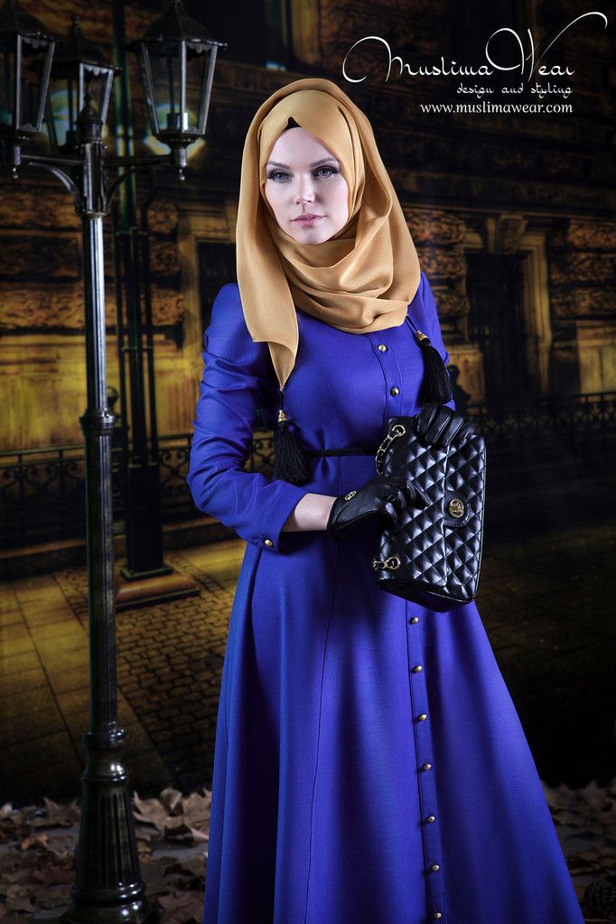 Bouquet Dress Indigo Blue | Muslima Wear Design and Styling
