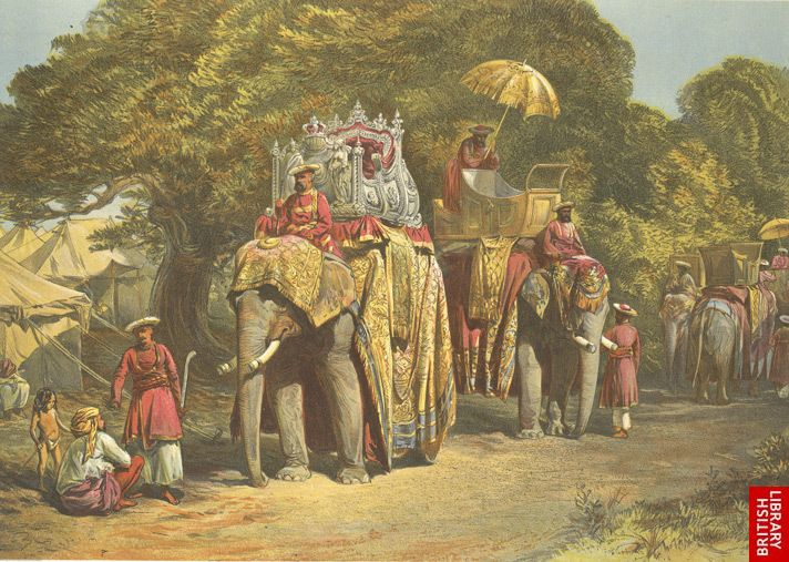 The Governor Generals State Howdah by William Simpson 1867