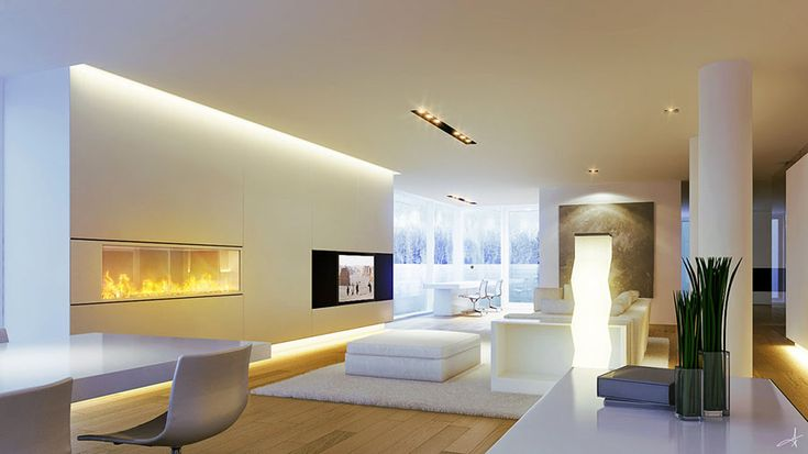 Soggiorno bianco dal design moderno 01 | Arredare living ...
