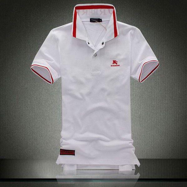 polo ralph lauren discount Burberry Print Stand Collar Short Sleeve Men's Polo Shirt White http://www.poloshirtoutlet.us/