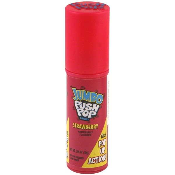 Push Pop Jumbo Push Pop Candy, Strawberry 1.06 oz (30 g) ($1.99) ❤ liked on Polyvore featuring beauty products, skincare and face care