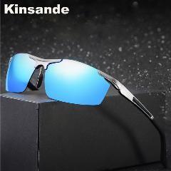 [ 22% OFF ] Kinsande New Fashion Sports Sunglasses Men Fishing Driving Polarized Eyes Protect Sun Glasses Gafas De Sol K8530