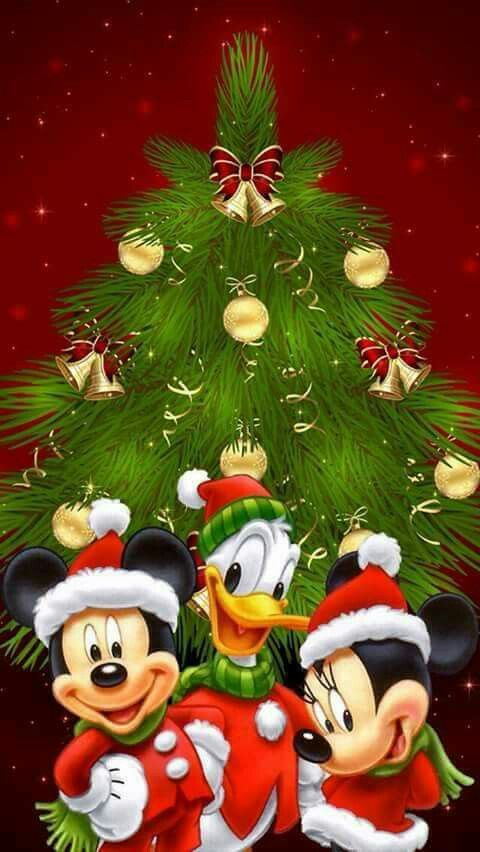 Postal Navideña Christmas Pinterest Disney Christmas Mickey