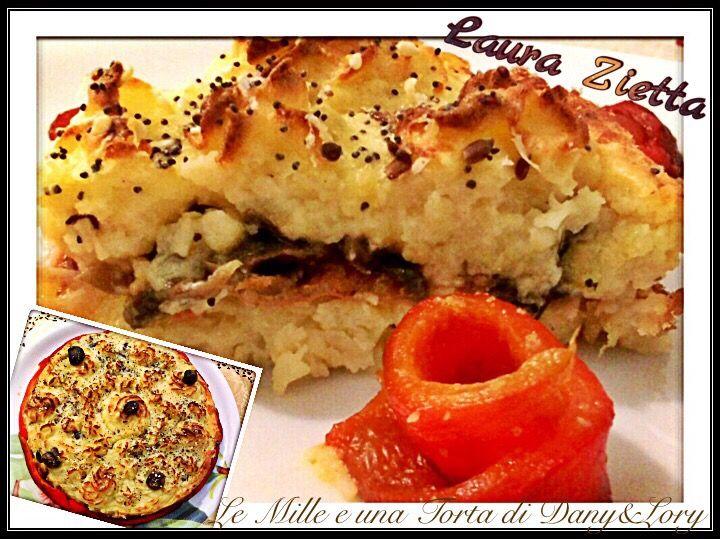 Condividi la ricetta...Condividi la ricetta...RICETTA DI: LAURA ZIETTA INGREDIENTI: .1kg di patate .100ml di panna .100g di parmigiano + un po' .3-4 fiocchetti di burro .2 uova .noce moscata q.b. .200g di funghi .100g di speck .100g…
