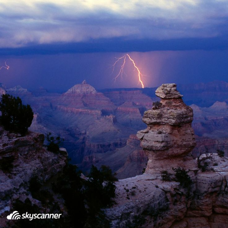 The Canyons Lightning Storms Grand Canyon National Park Weather Gardens Flowers Buildings Landscape Blossoms