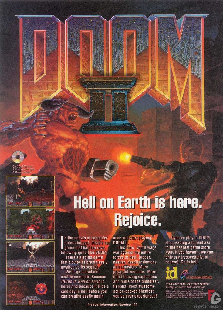 doom game | Doom 2 Doom 2 Ad Big Art | Gallery at FreakyGaming