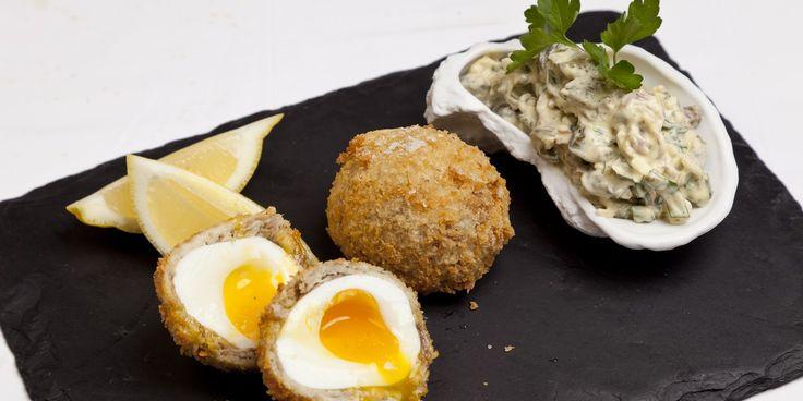 Smoked Mackerel Scotch Egg Recipe - Great British Chefs