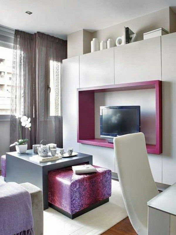 Pink Modern Apartment Interior Design #interior #deisng #interiordesign #pink #modern #cozy - HomeSketch.Org