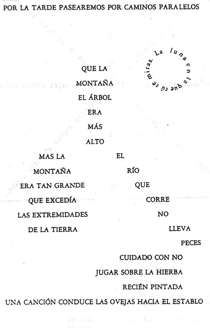 Caligramas de Vicente Huidobro.