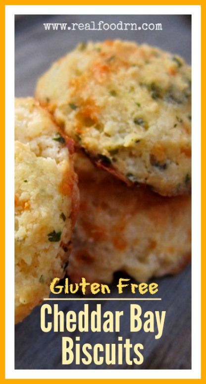 Cheddar Bay Biscuits.  This uses tapioca flour, which is supposed to give a really good texture.